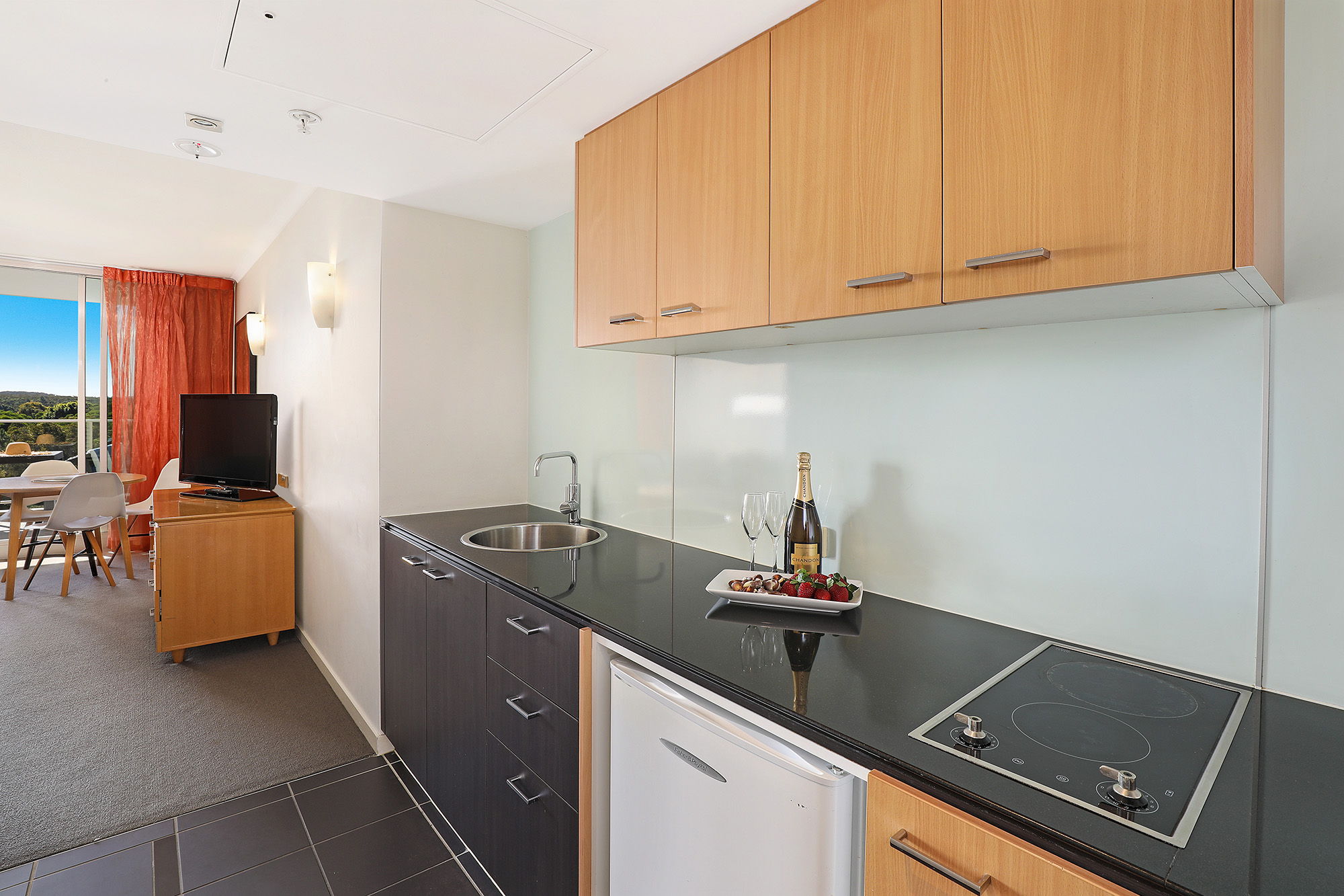 One Bed Apartment Kitchenette