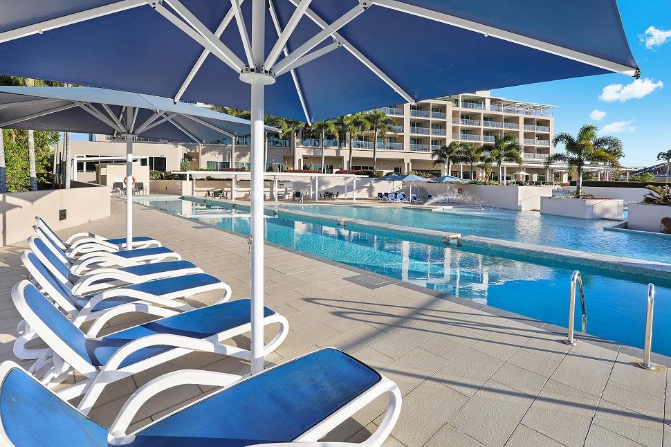 Pelican Waters Resort Poolside